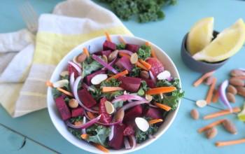 Kale, Beet & Almond Salad