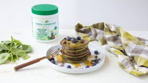 Gluten Free Green Pancakes with Hidden Veggies