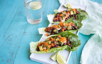 Avocado & Black Bean Lettuce 'Tacos'