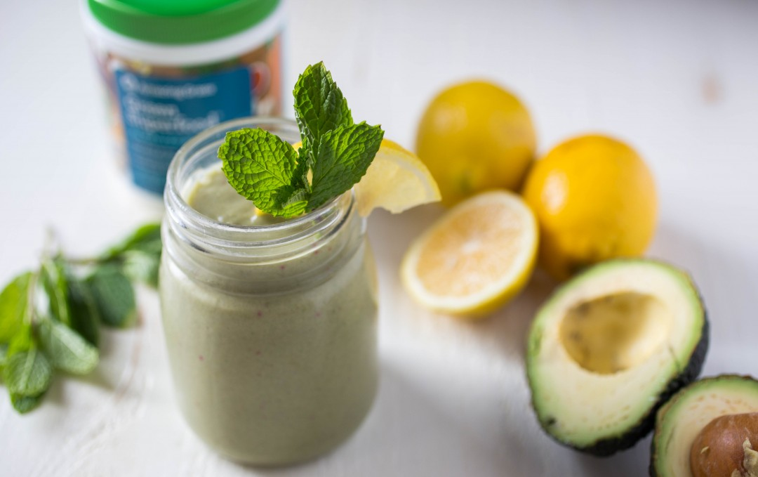 Lemon, Mint and Avocado Smoothie