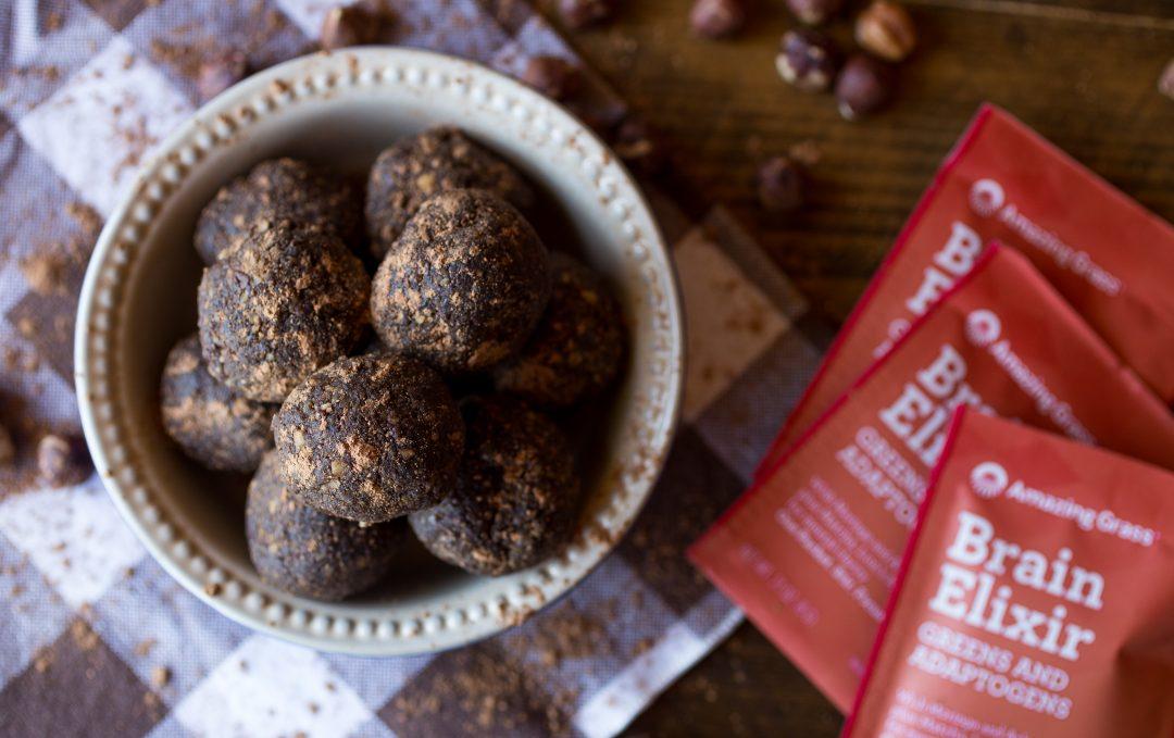 Chocolate Hazlenut Brain Elixir Energy Balls