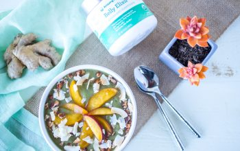 Ginger Peach Smoothie Bowl