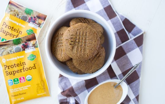 Creamy Protein Superfood Peanut Butter Cookies
