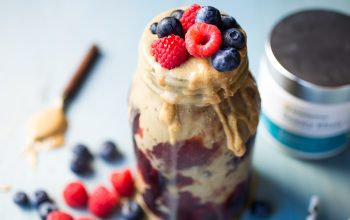 Protein Peanut Butter & Beauty Blueberry Jelly Smoothie Recipe