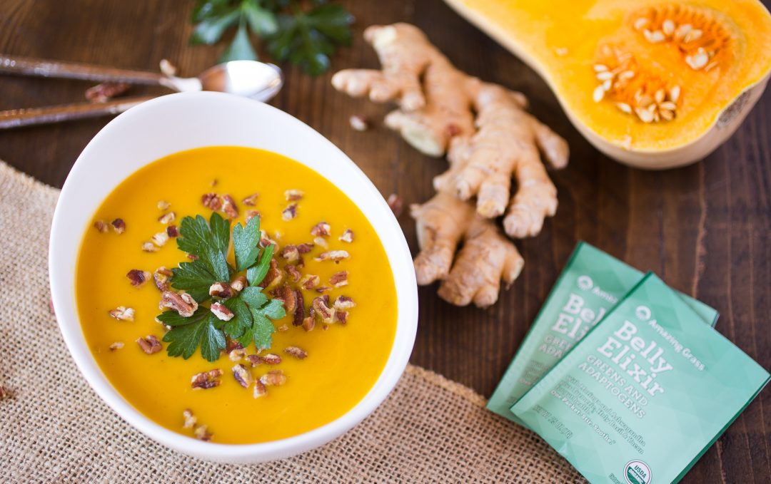 Happy Belly Elixir Butternut Squash Soup Recipe With Adaptogens