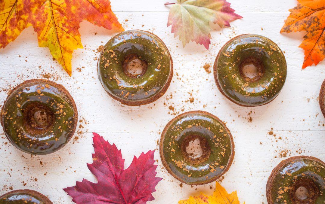 Grain-Free Pumpkin Donuts With Peanut Butter Maple Glaze