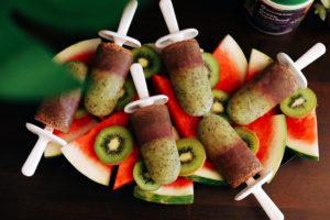 3-Ingredient Antioxidant Kiwi Watermelon Popsicles