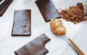 4-Ingredient Peanut Butter Chocolate Protein Bars